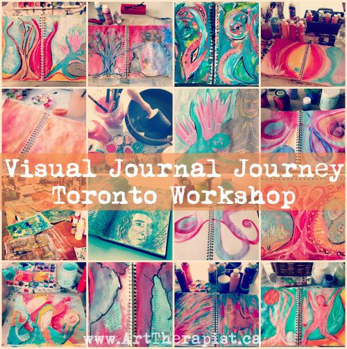 Visual Journal Journey #Toronto Workshop. Start 2015 off creatively! Art journaling, a sustainable creative self care practice.