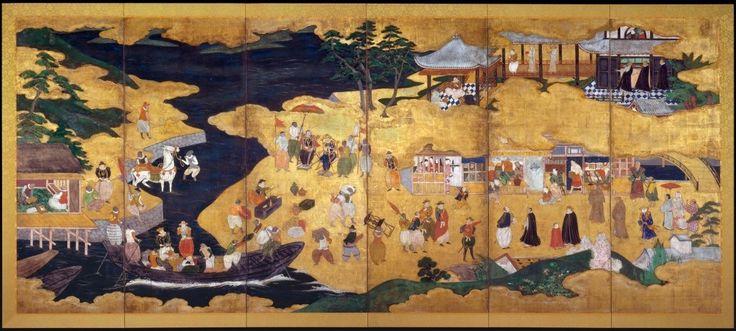 Namban Byobu: Japanese and Portuguese (sec. XVI).