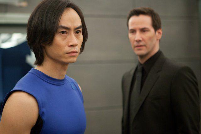 Chen Hu and Keanu Reeves as 'Tiger' Chen Lin Hu and Donaka Mark in Man of Tai Chi.
