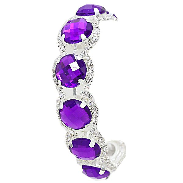 Purple diamante tennis bracelet £11.99 available from WWW.GlitzyGlamour.co.uk