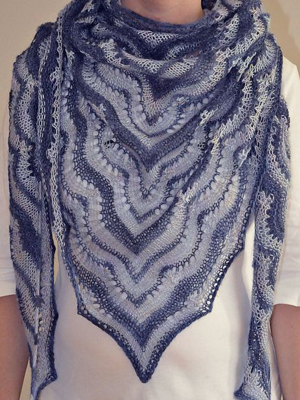 Artyarns Taj Mahal Rectangle Shawl Kit in Ice Sculpture