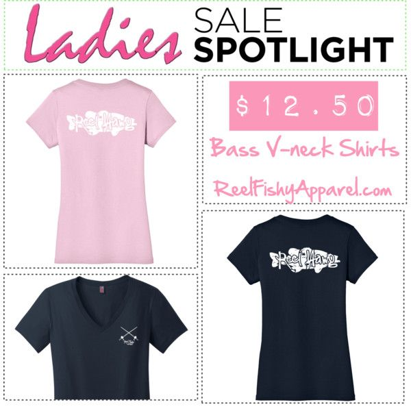 Ladies Bass Fishing Shirts Closeout!  Only $12.50.  Hurry, only 6 shirts left.