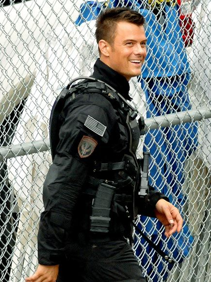 In SIZE MATTERS, Eli is a police officer. This is the best I could find of Josh Duhmel in uniform. ;) #romance #books #sexy