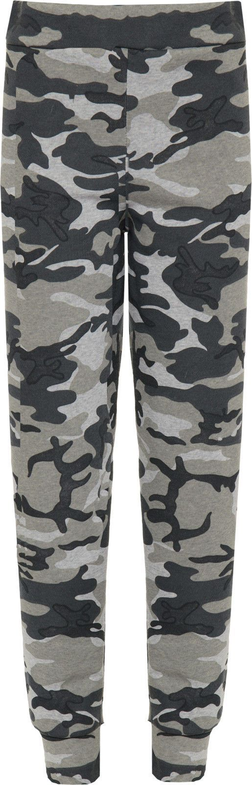 Womens Camouflage Jogging Bottoms Ladies Print Full Length Thick Trousers Pants