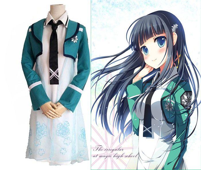The Irregular at Magic High School Shiba Miyuki lolita dress anime Cosplay Costume for women disfraces vestidos 4 in 1