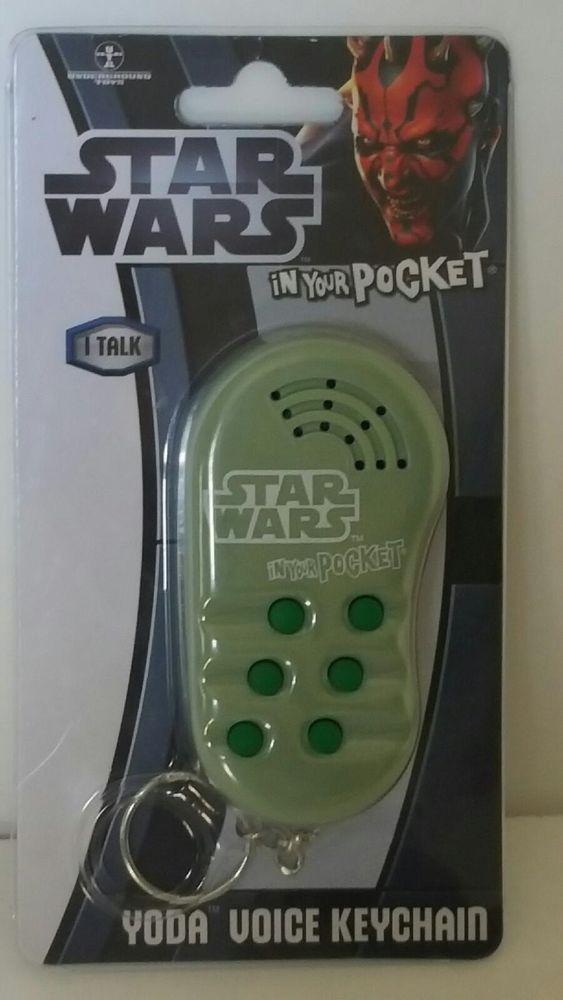Talking Keychain Star Wars Yoda Voice Novelty Gag Gift Pocket Collectible Gadget #StarWarsGadgetKeychain