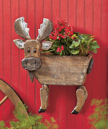 Wood Animal Wall Planters | The Lakeside Collection