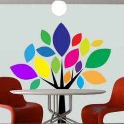 Δέντρο με έντονα χρώματα,  αυτοκόλλητο τοίχου ,18,00 €,http://www.stickit.gr/index.php?id_product=636&controller=product