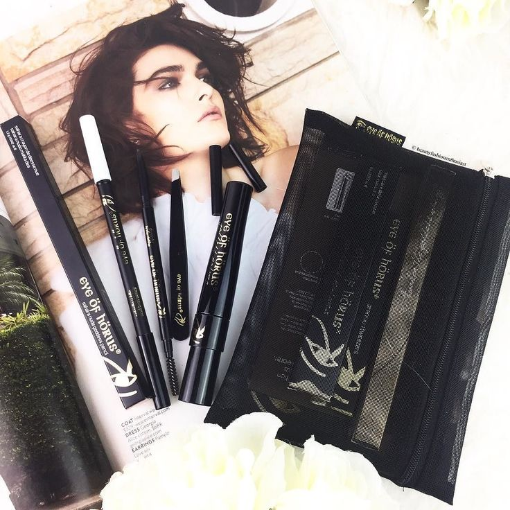 My @eyeofhoruscosmetics goodies  ft. Brow Essential Pack containing Black Goddess Mascara Brow Define Pencil and  Cosmetic Tweezers in a  MakeUp purse. Also  Nude and White Eye Pencils (Did you know: their goddess Pencils have 12 shades which won the BEAUTY SHORTLIST AWARD 2017) #gifted