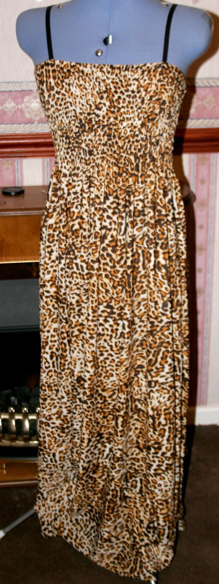 I'm selling Hurmei,Ladies,size14-16,brown animal print,long dress,for holiday ,casual wear. - £6.99 #onselz