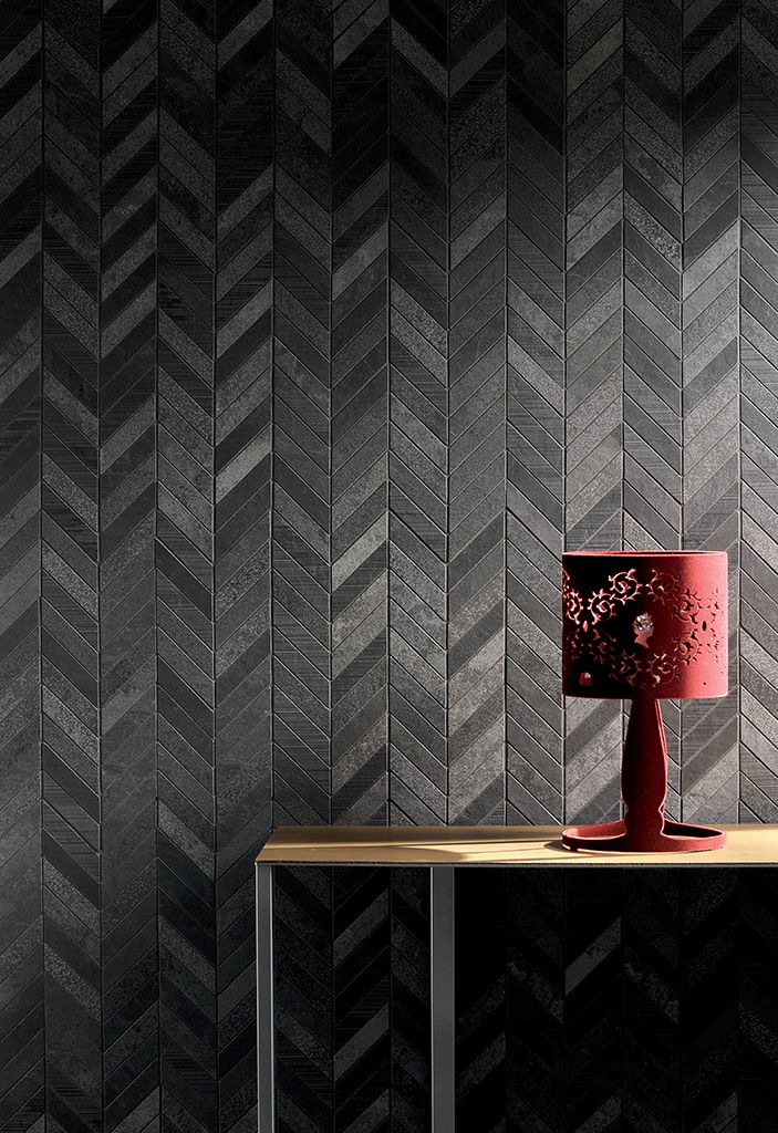 Coming Soon!!!  Napoli Ardesia Mix Antracite Chevron Mosaics.  Also available in Beige and Grey colors.