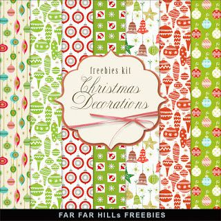 FREE Freebies Kit of Paper - Christmas Decorations BY Far Far Hill
