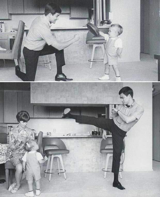 Bruce Lee and Brandon Lee | Rare and beautiful celebrity photos
