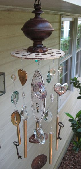 183 best images about wind chime crafts on pinterest for Wind chime craft projects