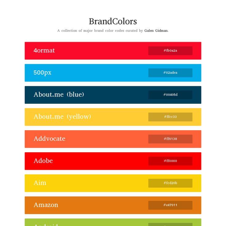 BrandColors by Galen Gidman