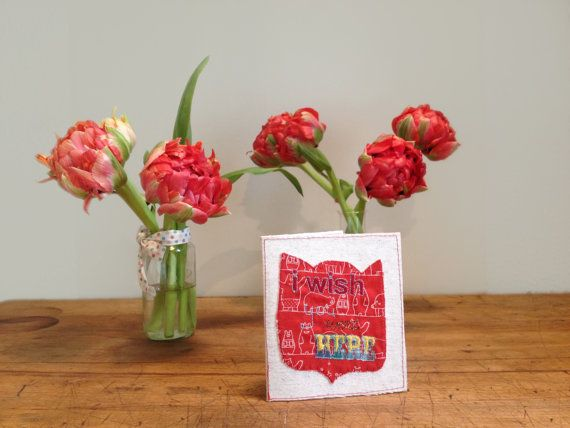 Embroidery Greeting card by BonitoFracaso on Etsy
