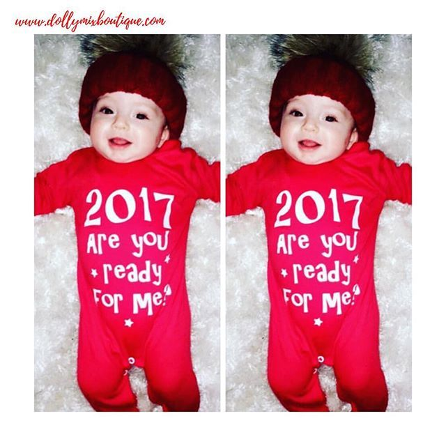 2017 we're ready for you! ❤️ Cutie Cruz rockin' his NYE Babygrow 😍 We hope all of our lovely followers have a fantastic evening celebrating in style 🎉🎈🍾 Here's to the best new year yet! >>> www.dollymixboutique.com ✨