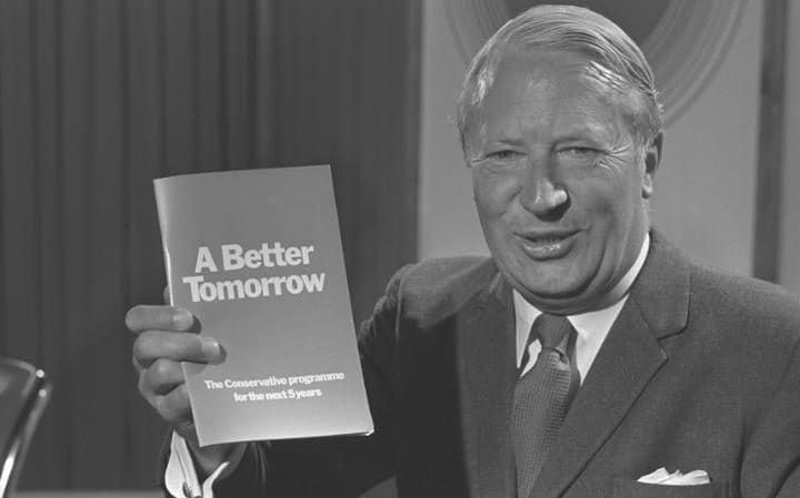 Ted Heath A shiver looking for a spine to run up. Harold Wilson