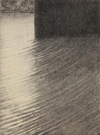 Shigeki Tomura. Reflect on Water 13, 2011. Etching and chine colle