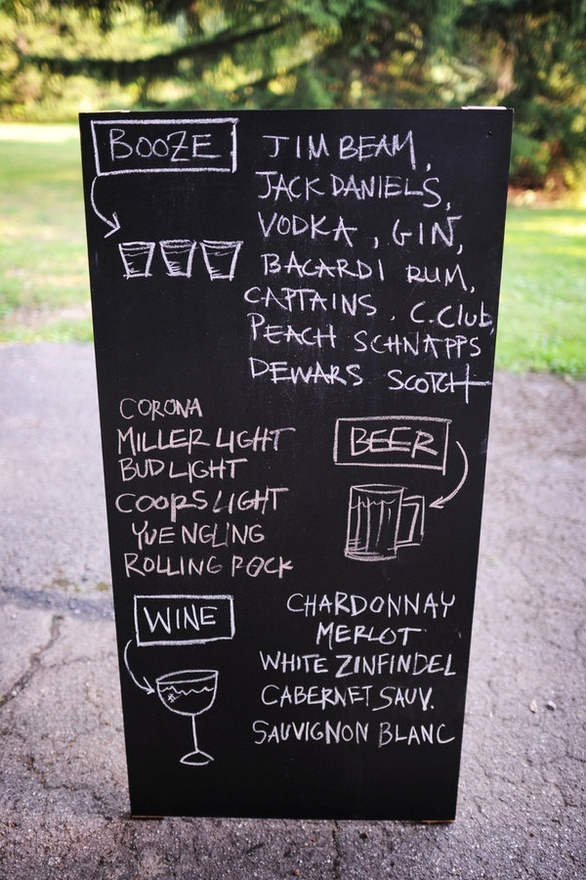 cute drink sign for Stag & Doe!