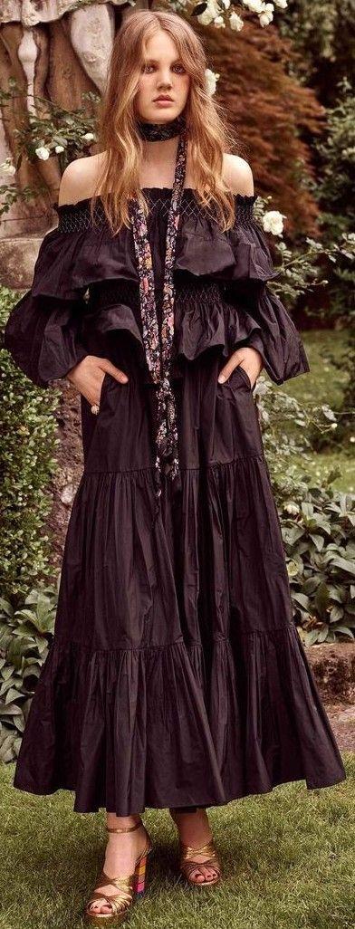 Black Maxi Off The Shoulder Dress                                                                             Source