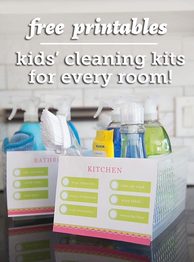 free printables, kids cleaning kits, kids chores, chores for kids, kid chore printables, kid chore lists