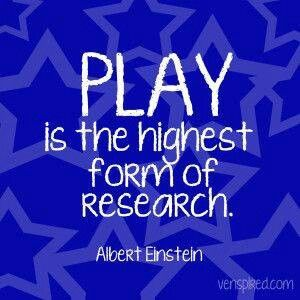 Remember to go out and play!  Kids big & small!  Play is often talked about as if it were a relief from serious learning.  But for children, play is serious learning.  Play is the work of childhood.  - Mr. Fred Rogers