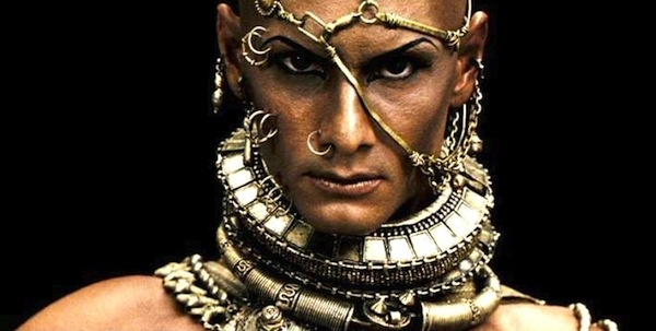 rodrigosantoroacting as xerxes in 300 movie faces
