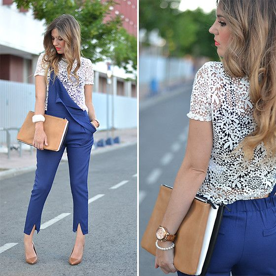 Stradivarius Top, Sheinside Jumpsuit, Zara Handbag, Lefties Necklace, Zara Heels