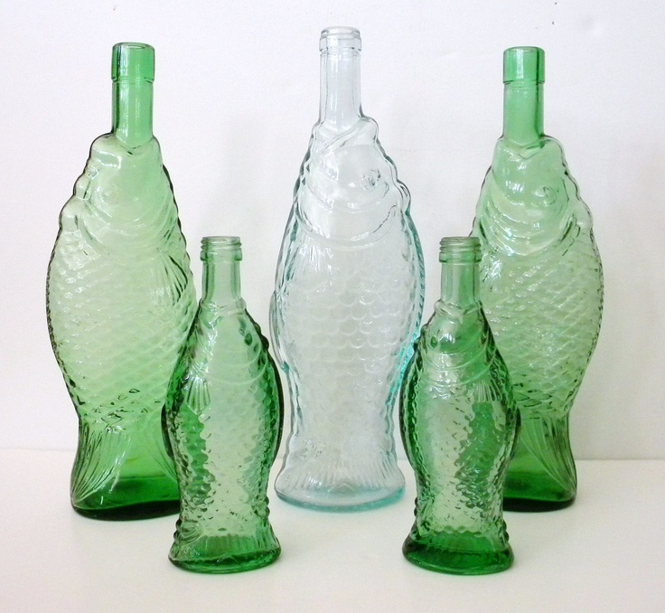 37 best images about glass bottles jugs and jars on for Best wine with fish