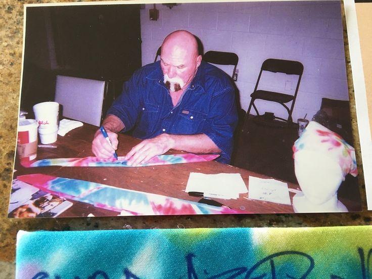 Headband signed by Superstar Billy Graham