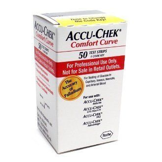 Accu-Chek Comfort Curve Test Strips- One Red Professional Box of 50 strips- 02/01/13 expiration by Comfort Curve. $13.00. One Brand New Box of Accu-Chek Comfort Curve Diabetic Test Strips. Each box contains 50 Test Strips. Best Use By Date is 9/30/2012. These are the Red boxes and are marked Professional and meant for health care professionals to sell to consumers. For use with Accu-Chek: Advantage, Inform, GTS Plus, and HQ meters