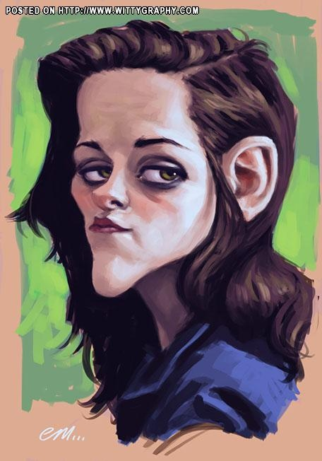 Kristen Stewart (Oops! Too much facial expression. kn)
