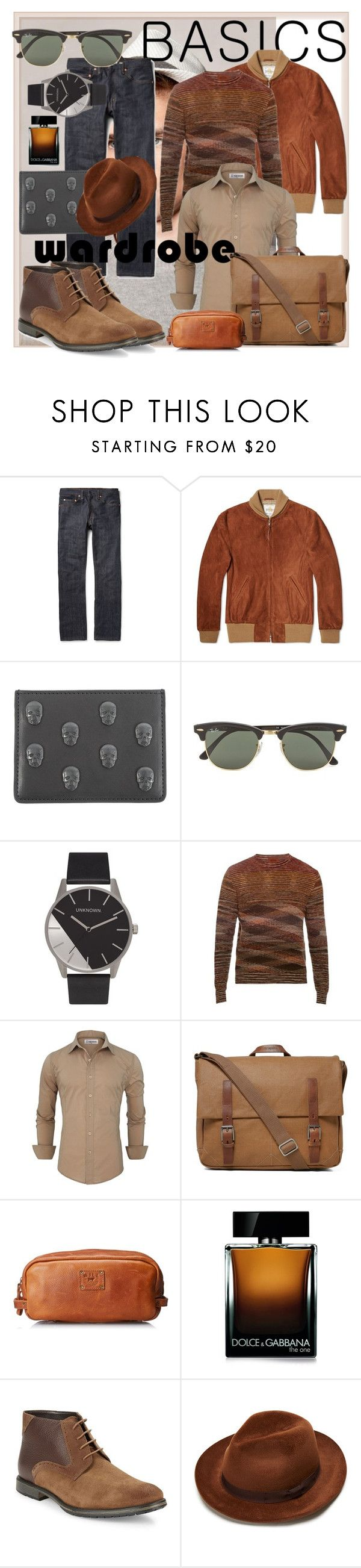 """""""ModernBoy"""" by andrea2andare ❤ liked on Polyvore featuring Levi's, Golden Bear, Lucien Pellat-Finet, Ray-Ban, Missoni, Ally Capellino, Will Leather Goods, Dolce&Gabbana, BLACK BROWN 1826 and modern"""