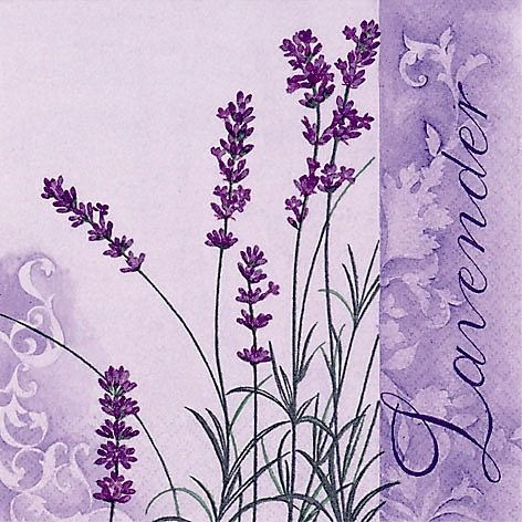lavender printable decoupage