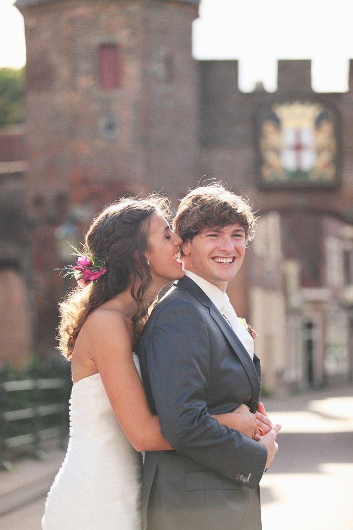 kim cuhfus bruidsfotografie fotoshoot met bruidspaar in Amersfoort