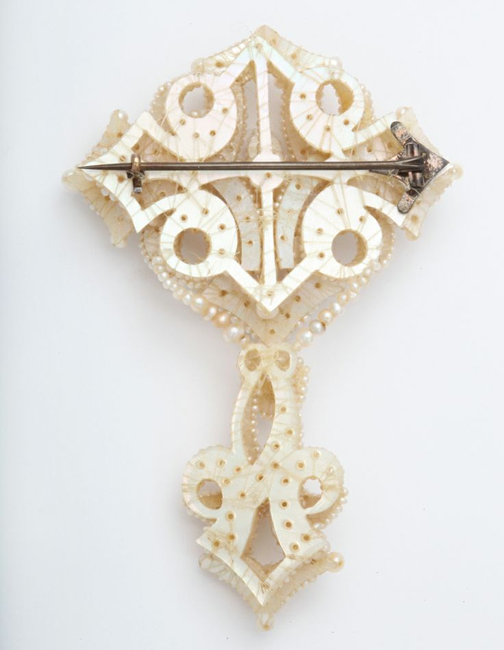 Fabulous Large Georgian Natural Seed Pearl Brooch | From a unique collection of vintage brooches at http://www.1stdibs.com/jewelry/brooches/brooches/