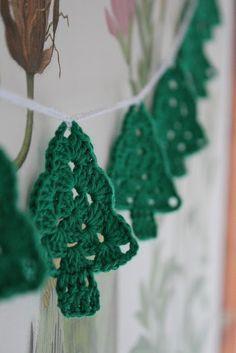 Crochet Granny Square Trees - Free Pattern