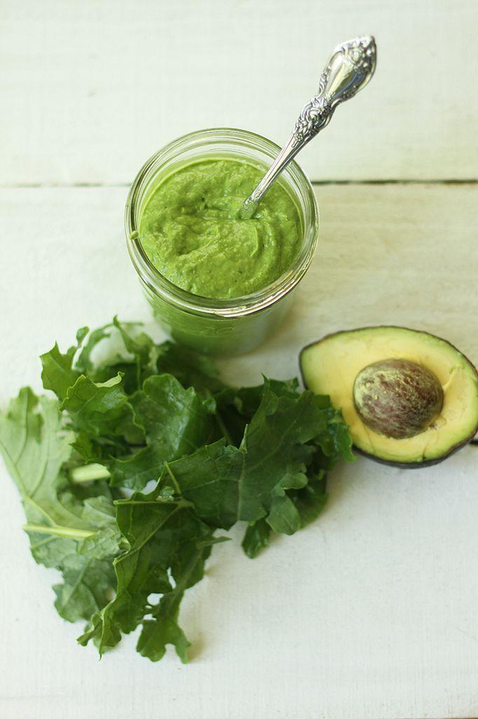 Raw kale and avocado pesto