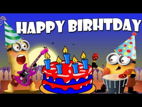 Happy Birthday Minions Song | Happy Birthday To You Song Minions [4k Music Video] - YouTube