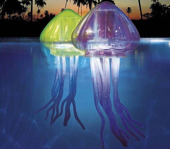 LED Jellyfish pool floats