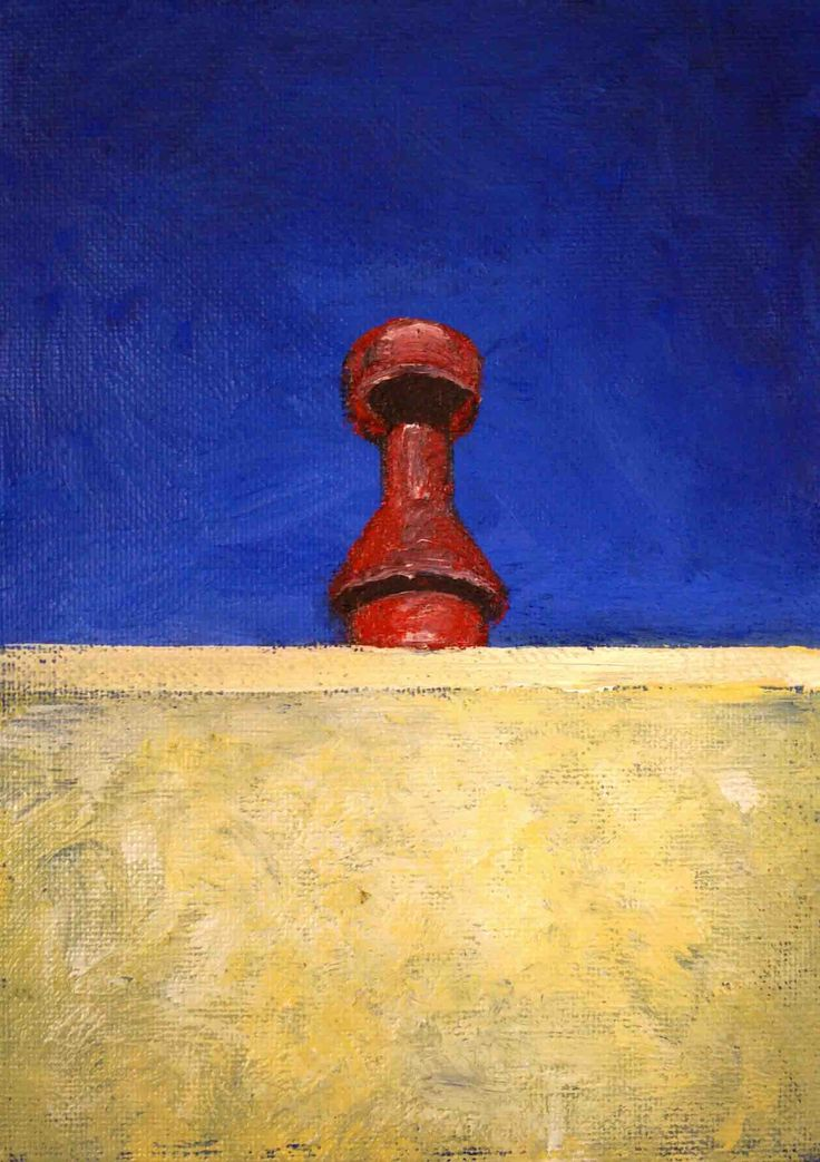 Andy Kent Fremantle Artist Red Chimney, acrylic on board, 23cm x 18cm (framed) $90