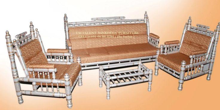 Royal Sofa Set ( pearl white & gold )