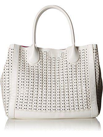 Steve Madden Bweavie Tote Bag, White, One Size ❤ Steve Madden