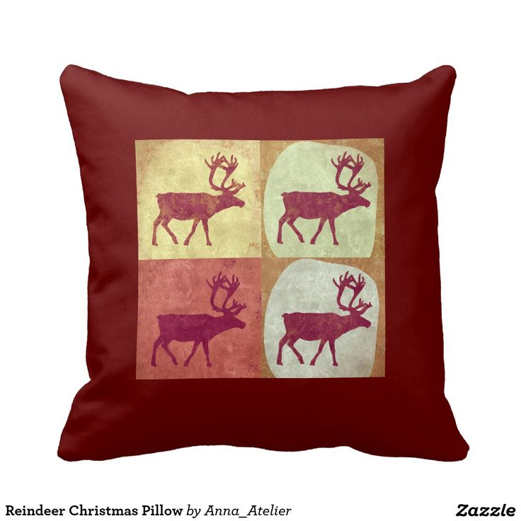 Reindeer Christmas Pillow