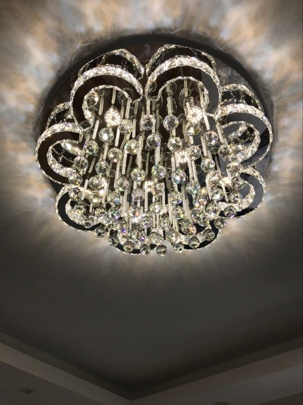 Lampa Led Krysztalowa Zyrandol Ring Cieply Zimny 8504626404 Oficjalne Archiwum Allegro