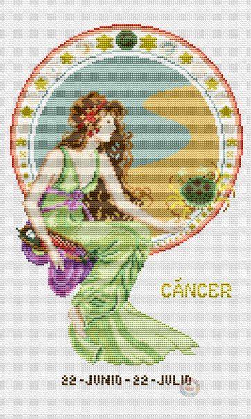 Рак - Вышивка