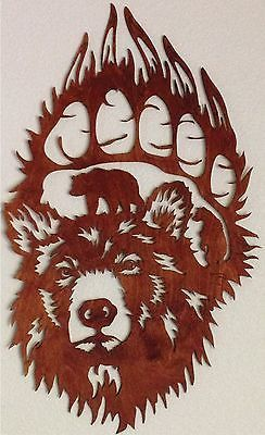 Grizzly Bear Scene in Paw Print