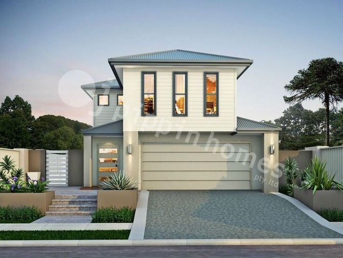 Abby 185 - Set over two storeys, the Abby 185 is a very functional four bedroom home, with two bathrooms + powder room and a double garage. Designed for a minimum block frontage of 10.1m, this home features an open plan living area which spills out to an alfresco area - perfect for outdoor entertaining! The stylish master suite includes a walk-in robe and ensuite. With your choice of facades, this 180 sqm home provides great functionality at an affordable price.