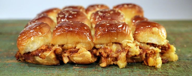 BBQ Chicken Pineapple Pull-Apart Sliders